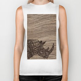 Wood Rhino Black Biker Tank