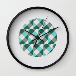 Teal Stripes in a Circle Wall Clock