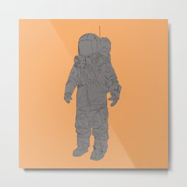 Astronaut Orange Metal Print