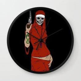 Skull nun Wall Clock