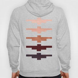 Mid Century Minimalist Ancient Aztec Inca Geometric Pattern Watercolor Raw Umber Colorful Gouache Pa Hoody