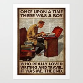 Traveling Poster OUAT Boy Loved Writing And Travel Art Print