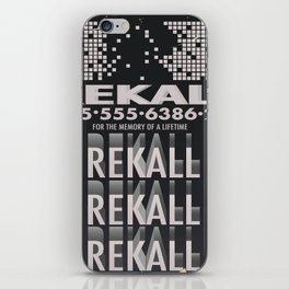 Rekall ( Total Recall ) Vintage magazine commercial. iPhone Skin