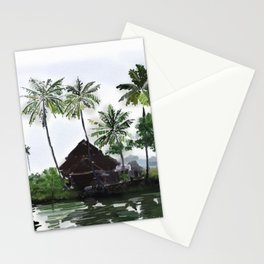 83 - Kerala scenery- Alleppey backwaters Stationery Cards