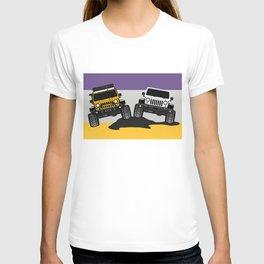 [JEEP COUPLE] yellow+white T-shirt
