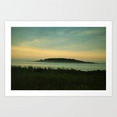 Misty Morning View (Timber Island) Art Print