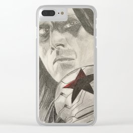 Bucky Barnes the Winter Soldier Clear iPhone Case