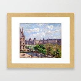 Camille Pissarro Place du Carrousel, Paris Framed Art Print