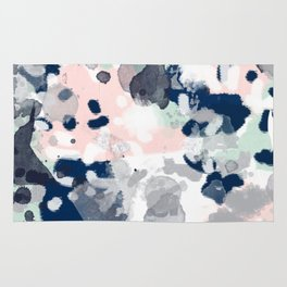 Tate - abstract modern minimal painting art nursery baby office home decor minimalist modern nursery Rug