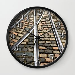 Rails and Cobbles Wall Clock