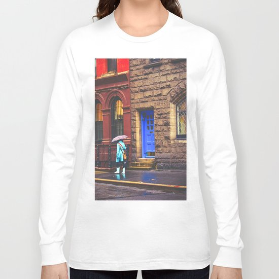 New York City Rainy Afternoon Long Sleeve T-shirt