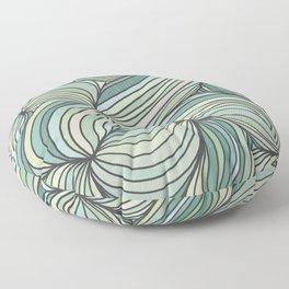 Green Lines Floor Pillow