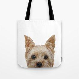 Yorkshire 2 Dog illustration original painting print Tote Bag