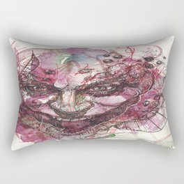 Watercolor Arkham Joker Rectangular Pillow