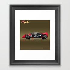 1996 McLaren F1 GTR #13R LARK Framed Art Print