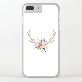 watercolor horns Clear iPhone Case
