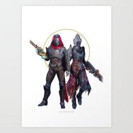 Hunter and Warlock Art Print