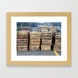 the Nautical Press / lobster crates Framed Art Print