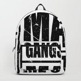 gangster gangsta rap made me stupid make me stupid Backpack