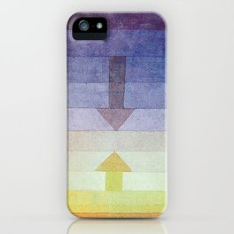 Separation in the Evening by Paul Klee 1922 // Sunset Abstract Minimalism Sun and Darkness iPhone Case