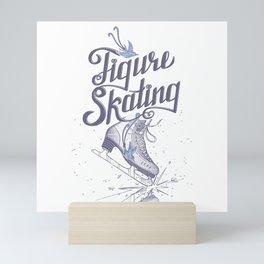 Figure skating Mini Art Print