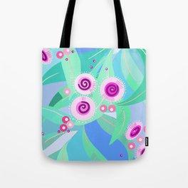 Gum flowers digital painting Tote Bag