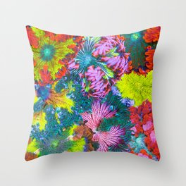 Maxi Mini Anemone Collage Throw Pillow