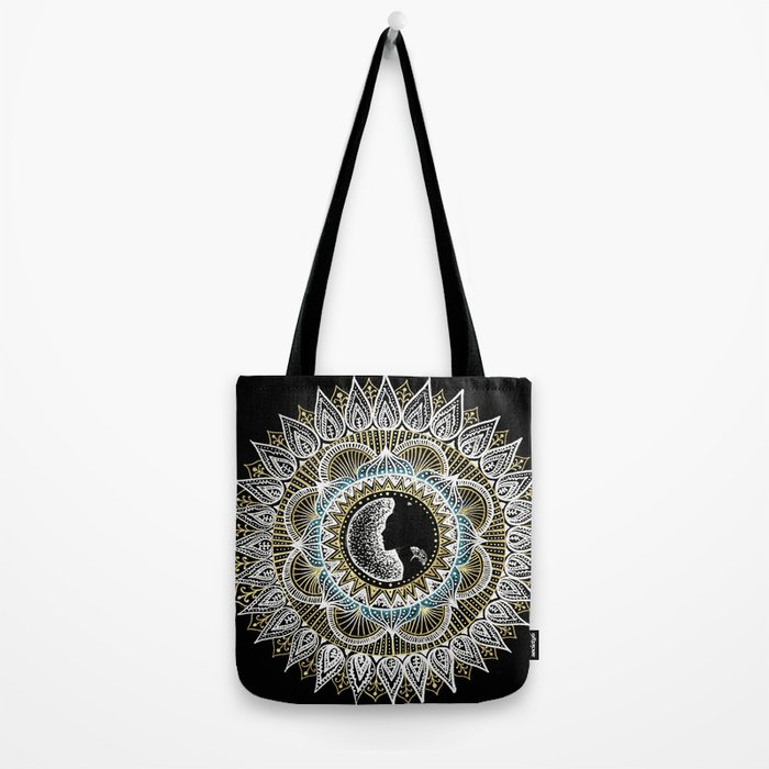 Woman Mandala Tote Bag