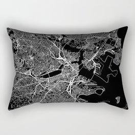 Boston Black Map Rectangular Pillow