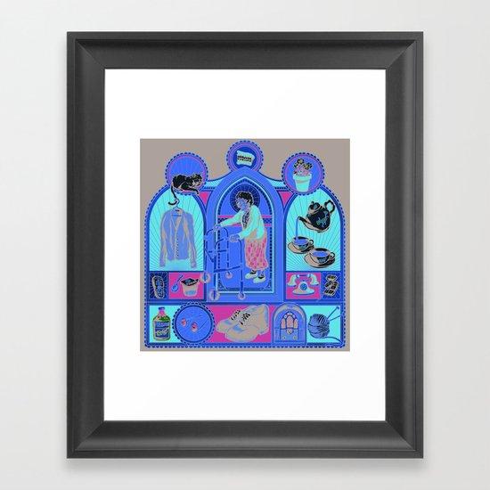 Ye Oldé Grandma Triptych Framed Art Print