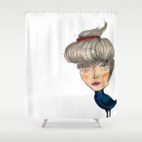 siren Shower Curtains featuring Siren by KokoOn
