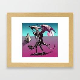 sunset on the astral plane Framed Art Print