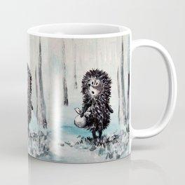 Hedgehog in the fog Coffee Mug