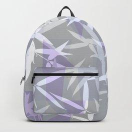 Elegant Grey Origami Geometric Effect Design Backpack