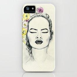 Floral Kiss iPhone Case