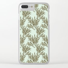 Seaweed Plant Clear iPhone Case