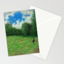 Summer Meadow Swift Stationery Cards
