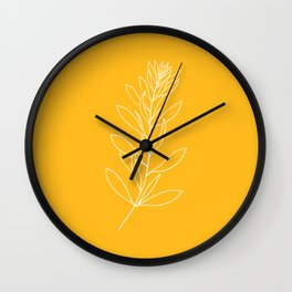 simple yellow Wall Clock