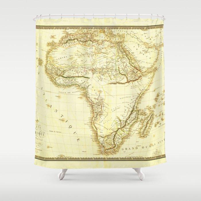 Carte De Lafrique Map.Map Of Africa Circa 1820 Carte De L Afrique Shower Curtain By Thearts