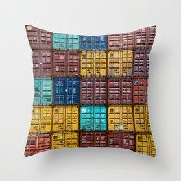 Shipped Throw Pillow