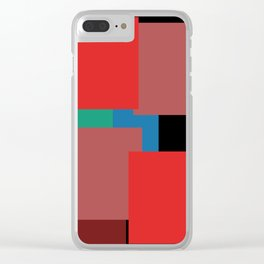Colourblock by definition Clear iPhone Case