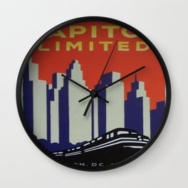 Vintage poster - Capitol Limited Wall Clock