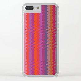 Zig Zag Stripe Clear iPhone Case