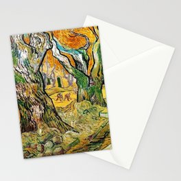 Road Works at Saint-Remy by Vincent van Gogh Stationery Cards