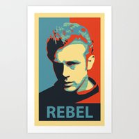 rebel Art Prints featuring Rebel by Sparks68