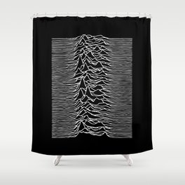 Joy Division lines Shower Curtain