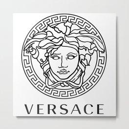 versaceTwhite Metal Print