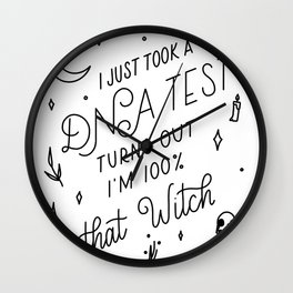 Truth Hurts Witch Wall Clock