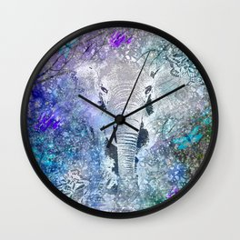 ELEPHANT IN THE STARRY LAKE Wall Clock