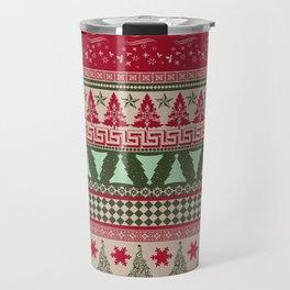 Pine Tree Ugly Sweater Travel Mug